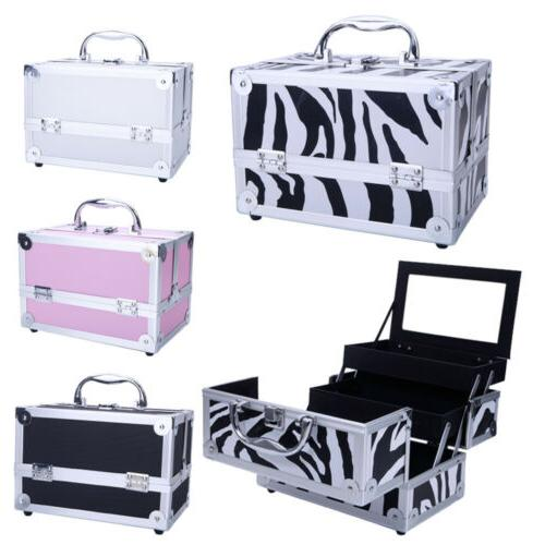 professional travel makeup train case and beauty
