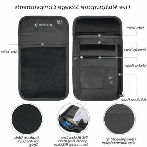 RFID Passport Travel Bag Security Neck