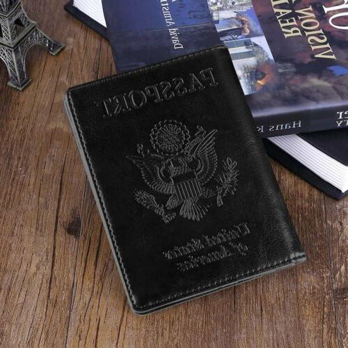 Slim Leather Travel Wallet RFID ID US