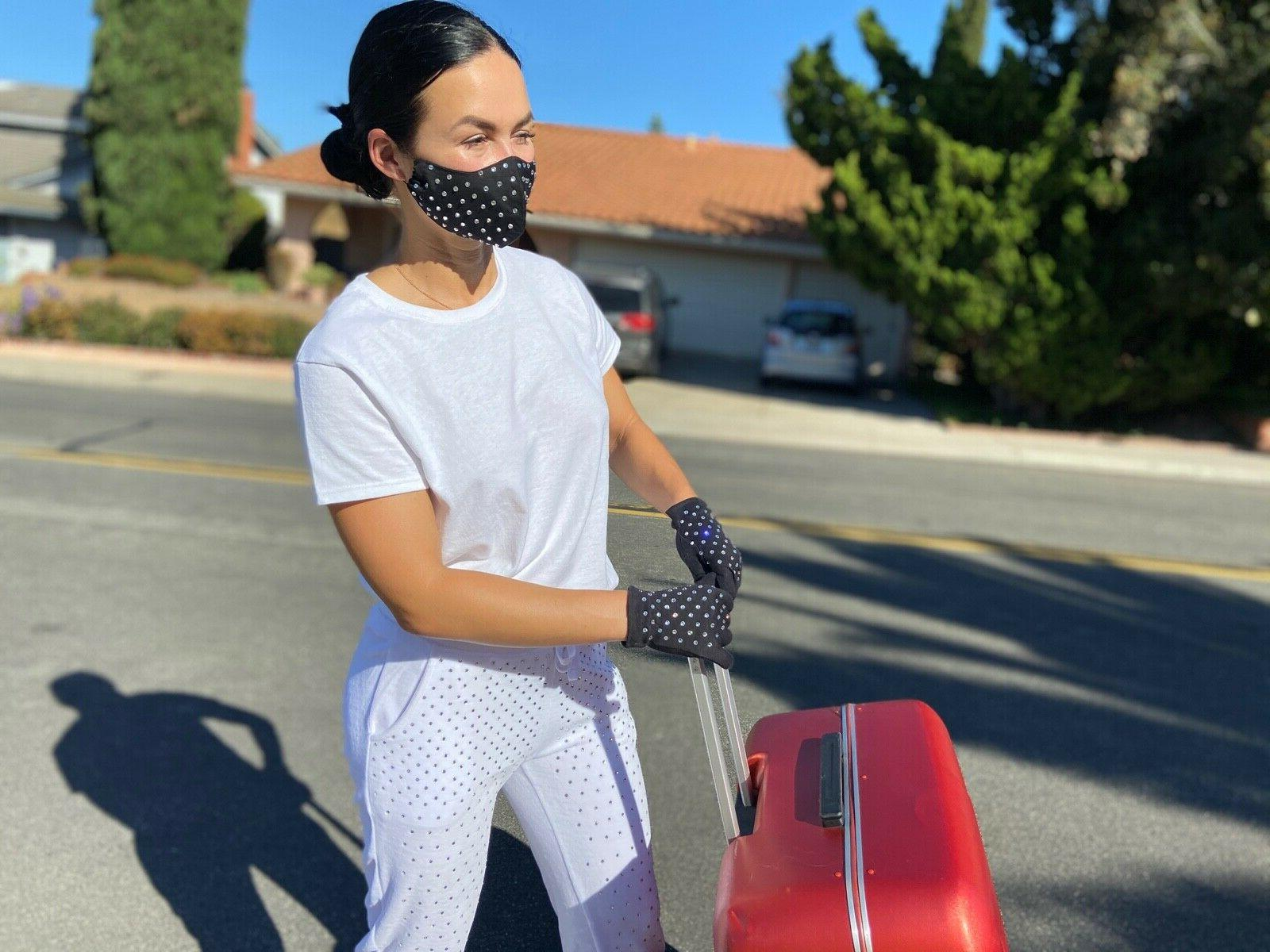 Women's Mask Travel Kit Rhinestones