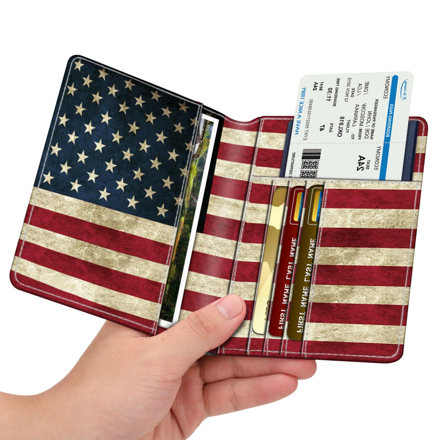 Travel Passport Holder Holder RFID Blocking Vegan Leather Card