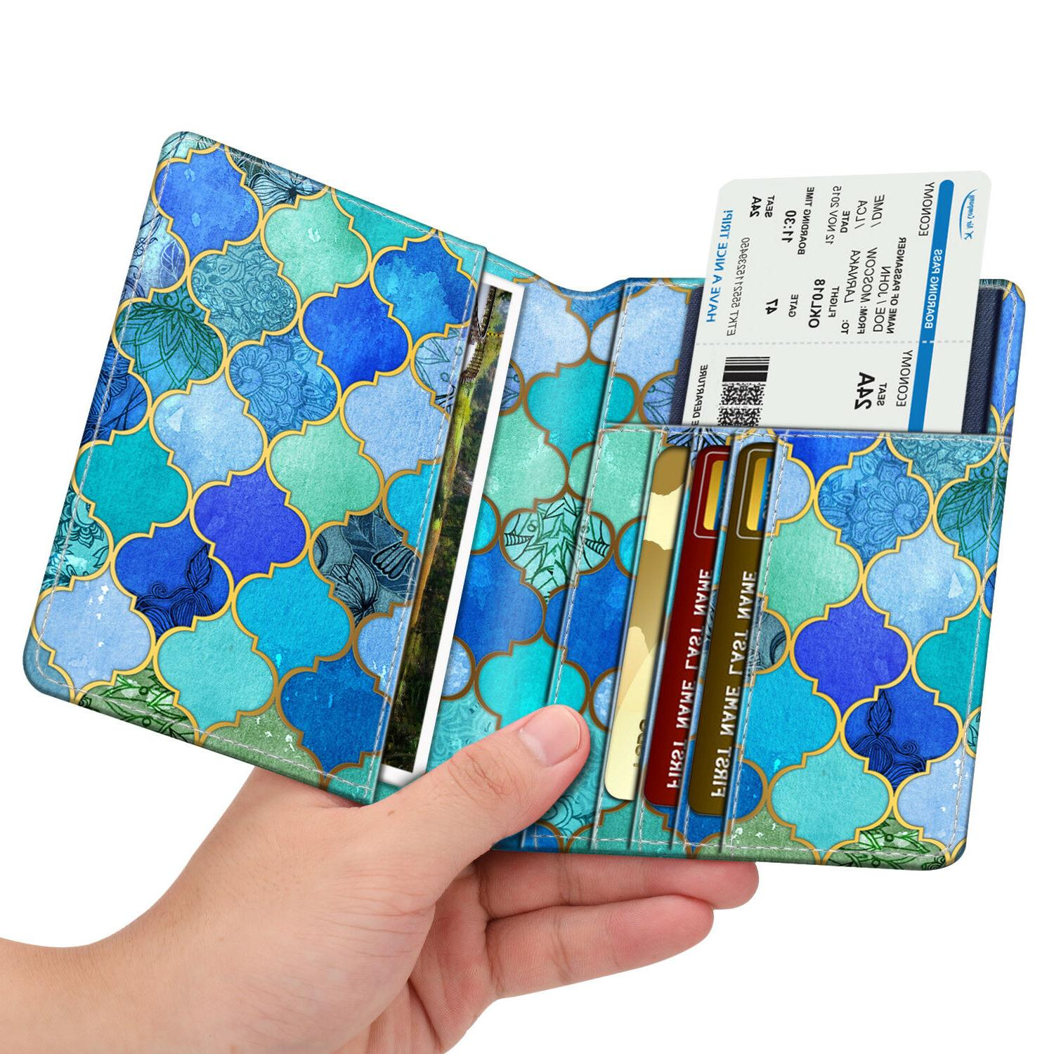 Travel Passport Holder RFID Leather Card Case