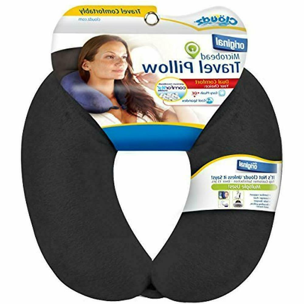 travel pillows dual comfort microbead neck black
