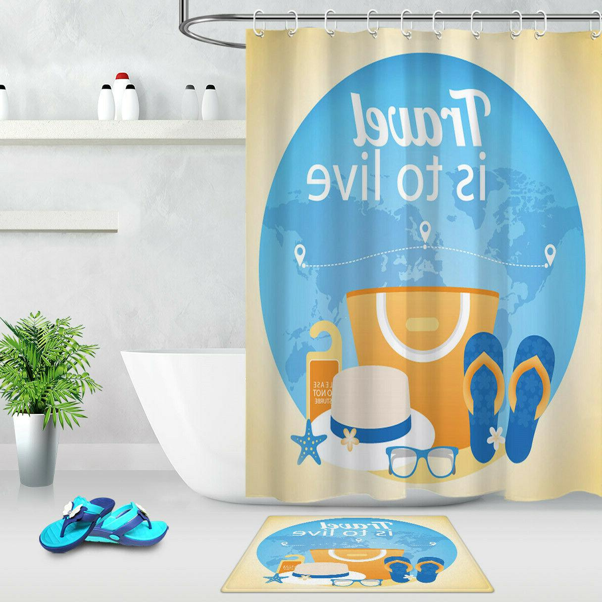 Tropical Life Shower Waterproof Bath Accessory Sets