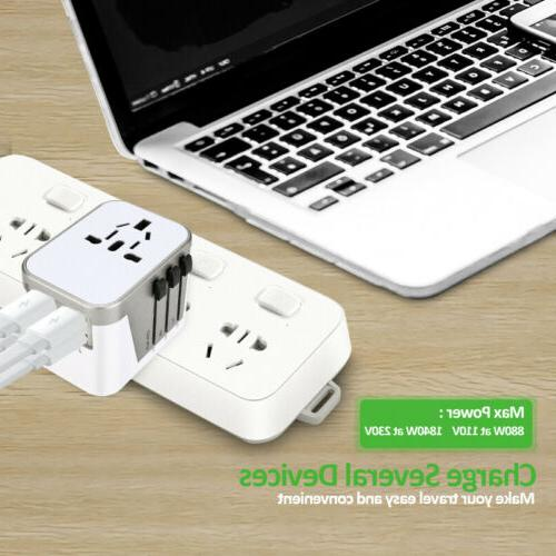 4 Ports Travel Adapter Universal