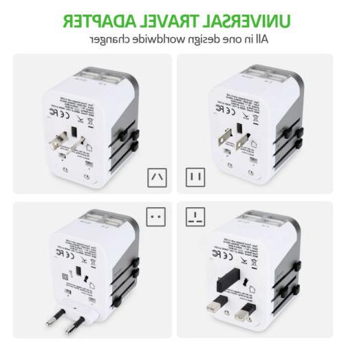 4 USB International Travel Power Adapter Wall