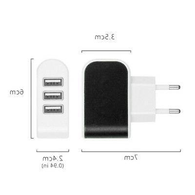 US/EUPlug USB 3.1A 3 Ports Travel Accessories