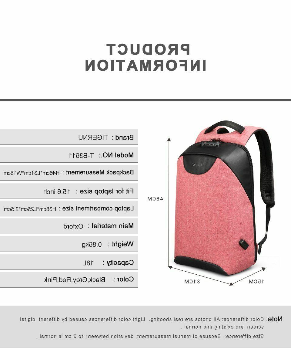 Women Men Bag Anti Theft Travel Waterproof