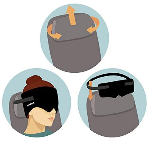 ZzzBand Pilot Travel Pillow The to First - One Size Black - Patented