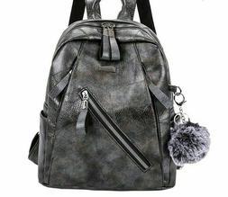 Leather Backpacks For Girls School Travel Shoulder Bags Casu