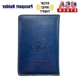 Leather Passport Cover Protector ID Case Card Holder Travel