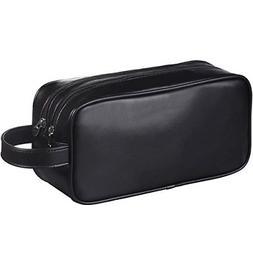Leather Toiletry Bag For Men Women Shaving Accessory Travel