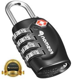 Fosmon Luggage Locks, TSA Approved 4 Digit Combination Reset