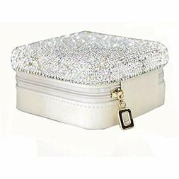 """Luxury Jewelry Trays Crystal Bling """" Accessory Holder Pouch,"""