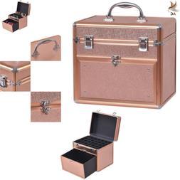 Makeup Case Nail Polish Beauty Train Bag Panel Slide Drawer