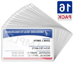 Medicare Card Holder Protector Sleeves Clear PVC For Credit