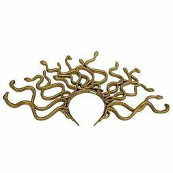 medusa snake costume headband gold one size