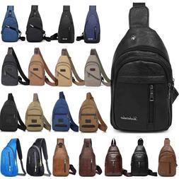 Men Sling Bag Chest Pack Travel Backpack Messenger Shoulder