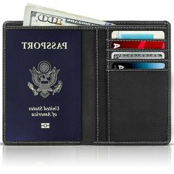 New Leather Travel Passport Holder Wallet For Men and Women
