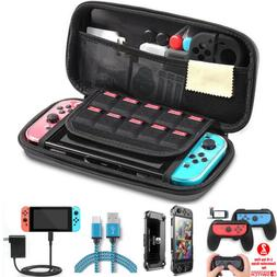 Nintendo Switch EVA Hard Shell Case/Joy Con Grip/Travel Char