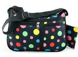 NWT Large Hobo Black Nylon Accessories Shoulder Travel Bag C