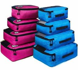 Packing Cubes Set Luggage Bags Organizers Durable Travel Acc