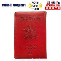 Passport Cover Protector PU Leather ID Case Card Holder Trav