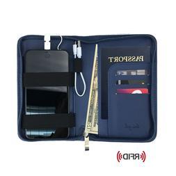 Phone Charging Passport Holder/Wallet - 10 Colors - RFID - i