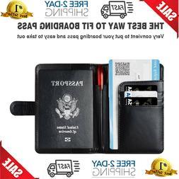 Porta pasaporte de cuero - Porta tarjetas de pasaporte con t