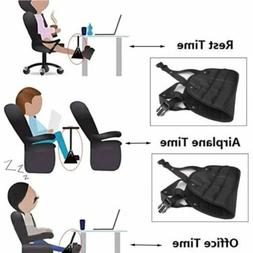 Portable Adjustable Height Travel Accessories Footrest Hammo