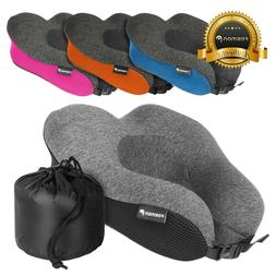 portable memory foam travel neck support pillow