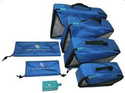 Premium 7 Piece Travel Organizer Packing Cubes Accessories S