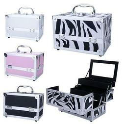 Professional Travel Makeup Train Case & Beauty Accessories O