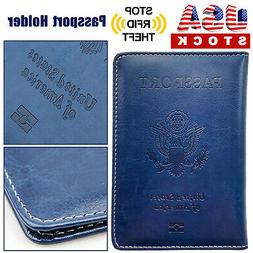 PU Leather Passport Cover Protector ID Case Card Holder Trav