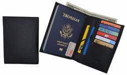 RFID Blocking Leather Passport Holder Wallet Cover Case Trav