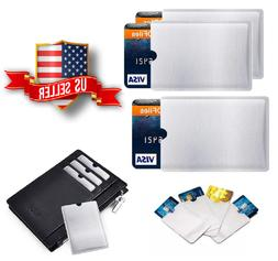 RFID Blocking Sleeve For Credit Card Protector Anti Theft Sa