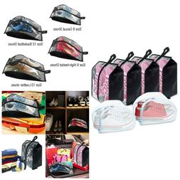 Shoe Bags With Zipper Transparent Nylon Washing Bag Travel A