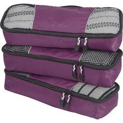 eBags Slim Classic Packing Cubes - 3pc Set 12 Colors Travel