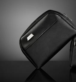 TUMI SOFT CASE Toiletries Bag BLACK Empty MADE FOR DELTA BUS