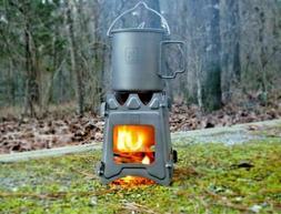 Titanium Ultralight Outdoor Camping Folding Wood Stove Backp