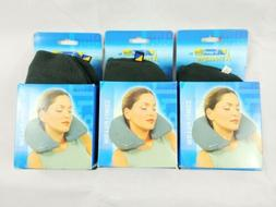 Travel Blue By Travel Pro Comfi Inflatable Neck Pillow Fleec