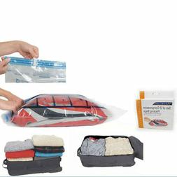 Travel Compression Bags x 2 Packing Clear Travelon Roll Up S