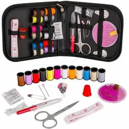 Travel Home Emergency Mini Sewing Kit Supplies Carrying Case