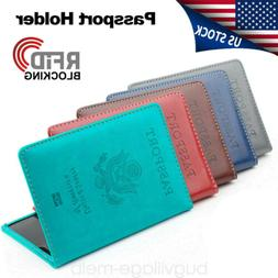 Travel Leather Passport Organizer Holder Card Case Protector
