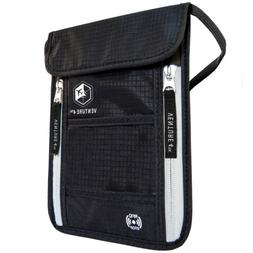 VENTURE 4TH Travel Neck Pouch Neck Wallet with RFID Blocking