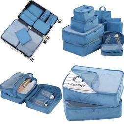 Travel Packing Cubes Set Toiletry Kits Bonus Shoe Bag Jj Pow