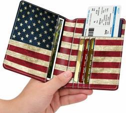 Travel Passport Holder Wallet Holder RFID Blocking Vegan Lea