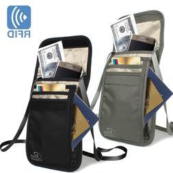 Secret Security Neck Strap Bag Hidden Passport Case Travel W