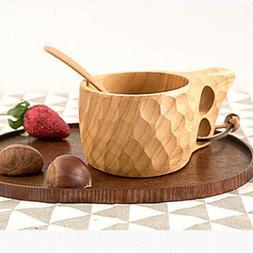 Travel Wooden Cup Kitchen Accessories Drinkware Coffee Milk