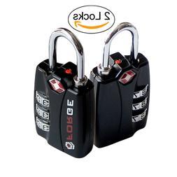 Forge TSA Locks 2 Pack - Open Alert Indicator, Alloy Body fo